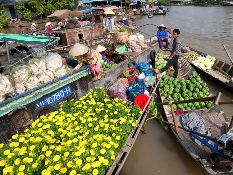 marché-flotant