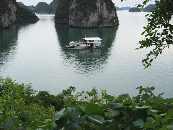 Baie d'halong- panorama du bateau