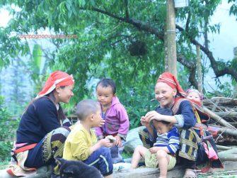 famille ethnie Dzao à Sapa